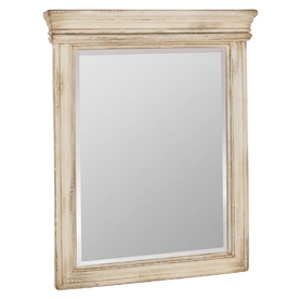 ESTATE by RSI 33-in H x 27-in W Vintage Antiqued White Rectangular Bathroom Mirror