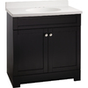 ESTATE by RSI 25-in Black Verona Single Sink Bathroom Vanity with Top