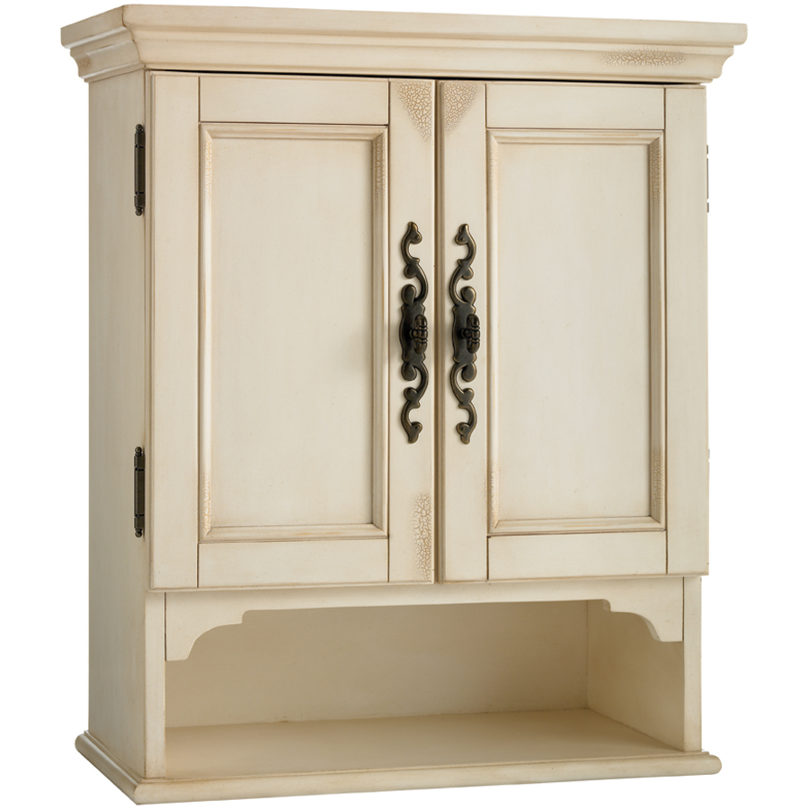 Shop Estate By Rsi Vintage Antiqued White Storage Cabinet At