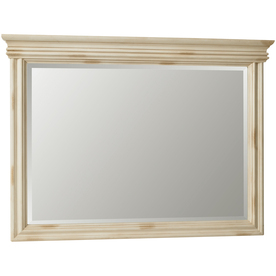 ESTATE by RSI 33-in H x 44-3/4-in W Vintage Antiqued White Rectangular Bathroom Mirror