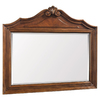 ESTATE by RSI 37-in H x 42-in W Colonial Spiced Cognac Rectangular Bathroom Mirror