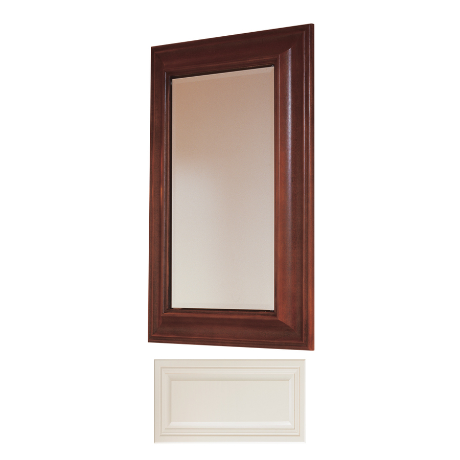 in h x w vanilla maple recessed medicine cabinet at