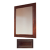 Insignia 36-in H x 30-in W Insignia Java Oak Rectangular Bathroom Mirror