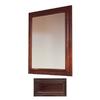 Insignia Insignia 36-in H x 30-in W Java Oak Rectangular Bathroom Mirror