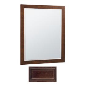 Insignia Insignia 32-in H x 26-in W Java Oak Rectangular Bathroom Mirror