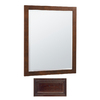 Insignia 32-in H x 26-in W Insignia Java Oak Rectangular Bathroom Mirror
