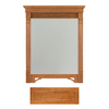 Architectural Bath 36-3/4-in H x 27-in W Savannah Cinnamon Rectangular Bathroom Mirror