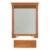 Architectural Bath Savannah 36.75-in H x 29.5-in W Cinnamon Rectangular Bathroom Mirror