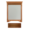 Architectural Bath 37-in H x 29-1/2-in W Savannah Cognac Rectangular Bathroom Mirror