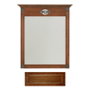 Architectural Bath 35-1/4-in H x 27-in W Remington Cognac Rectangular Bathroom Mirror