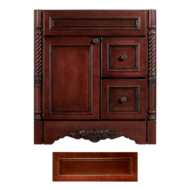 Architectural Bath Versailles Burgundy Traditional Bathroom Vanity (Common: 30-in x 21-in; Actual: 30-in x 21-in)