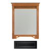 Architectural Bath 36-3/4-in H x 27-in W Savannah Black Rectangular Bathroom Mirror