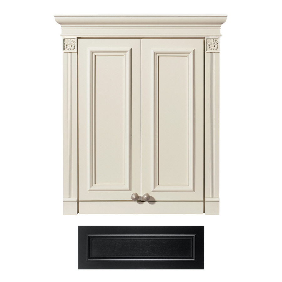 bath tuscany wall cabinet common 24 in actual 24 in at