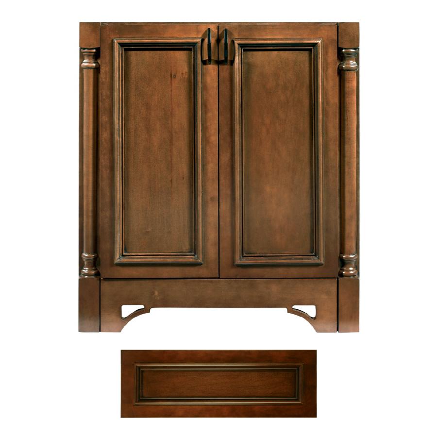 Shop Architectural Bath Savannah Cognac Black Traditional Bathroom Vanity Common 24 In X 21 In