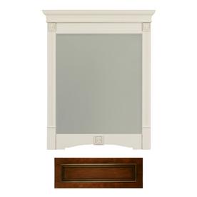 Architectural Bath Tuscany 36.75-in H x 29.5-in W Cognac/Black Rectangular Bathroom Mirror