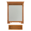 Architectural Bath 36-3/4-in H x 27-in W Savannah Cinnamon/Black Rectangular Bathroom Mirror