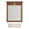 Architectural Bath 35-1/4-in H x 27-in W Remington Vanilla/Pewter Rectangular Bathroom Mirror
