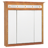Project Source 37-1/2-in Wood Lighted Surface Mount Medicine Cabinet