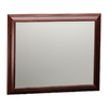 ESTATE by RSI 35-in H x 29-in W Cambridge Burgundy Black Glaze Rectangular Bathroom Mirror