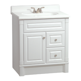 Shop Estate By Rsi Southport White Casual Bathroom Vanity Actual 30 In X 21 In At