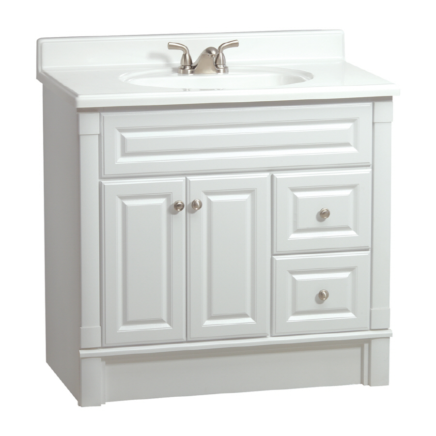 White Casual Bathroom Vanity Actual: 36in x 21in at Lowes.com