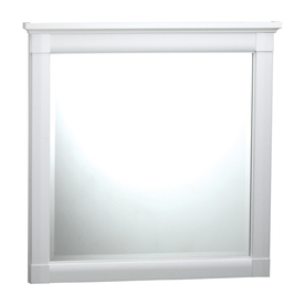 ESTATE by RSI 31-1/4-in H x 31-1/4-in W Southport White Square Bathroom Mirror
