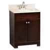 Style Selections Broadway 25-in x 19-in Espresso Undermount Single Sink Bathroom Vanity with Granite Top