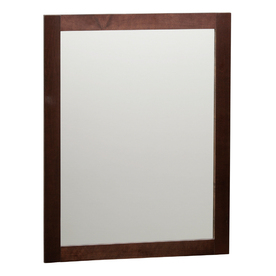 "Style Selections 31""H x 24""W Broadway Java Rectangular Bath Mirror"