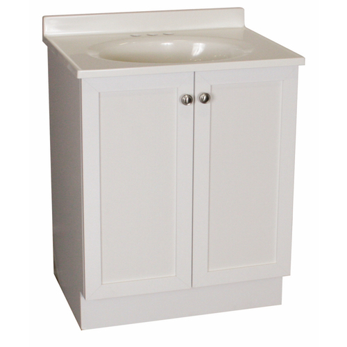 Cheap rsi estate white bath vanity with sink counter for Bathroom cabinets for sale cheap