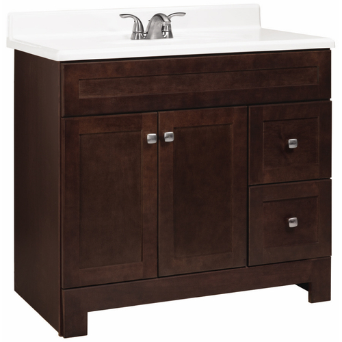 Estate by RSI Java Avalon Bath Vanity with Shaker Doors at ...