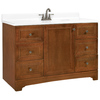 ESTATE by RSI Wheaton Chestnut Traditional Bathroom Vanity (Actual: 48-in x 21-in)