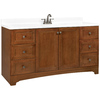 ESTATE by RSI Wheaton Chestnut Traditional Bathroom Vanity (Actual: 60-in x 21-in)