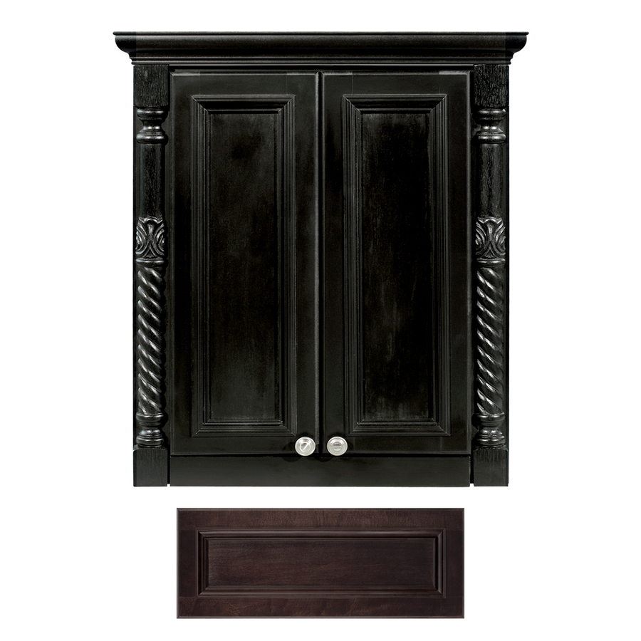 shop architectural bath versailles java wall cabinet common 24 in