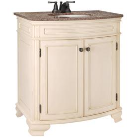 Bathroom Vanities on 20 In Bisque Single Sink Bathroom Vanity With Granite Top At Lowes Com