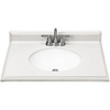 ESTATE by RSI 31-in W x 22-in D Piedmont Frost Cultured Marble Single Sink Vanity Top