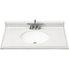 ESTATE by RSI 37-in W x 22-in D Piedmont Frost Cultured Marble Single Sink Vanity Top