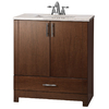 ESTATE by RSI 30-1/2-in Cognac Modena Single Sink Bathroom Vanity with Top