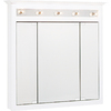 Project Source 37-1/2-in White Lighted Surface Mount Medicine Cabinet