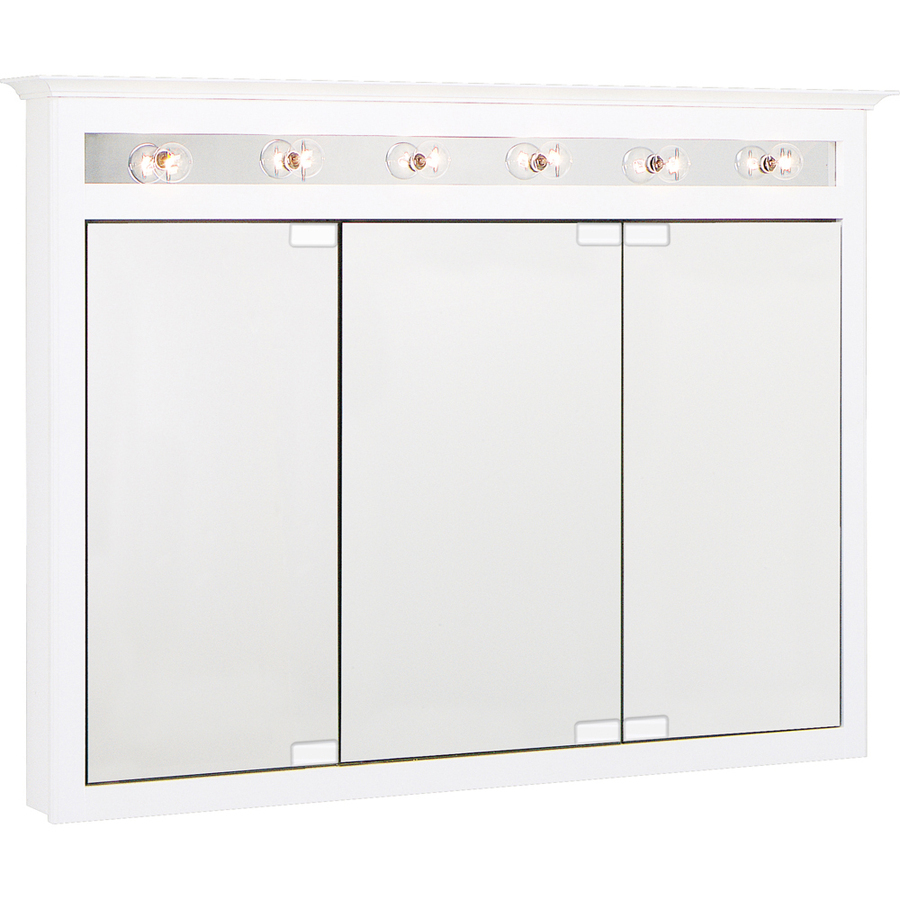 Shop Project Source 49 5 In X 36 In White Lights Maple Surface Mount Medicine