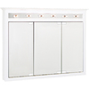 Project Source 49-1/2-in White Lighted Surface Mount Medicine Cabinet