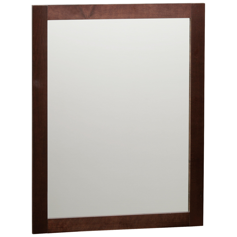 Shop style selections longshire 31 in h x 24 in w espresso for Bathroom mirror styles