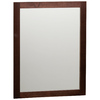 Style Selections 31-in H x 24-in W Longshire Espresso Rectangular Bathroom Mirror