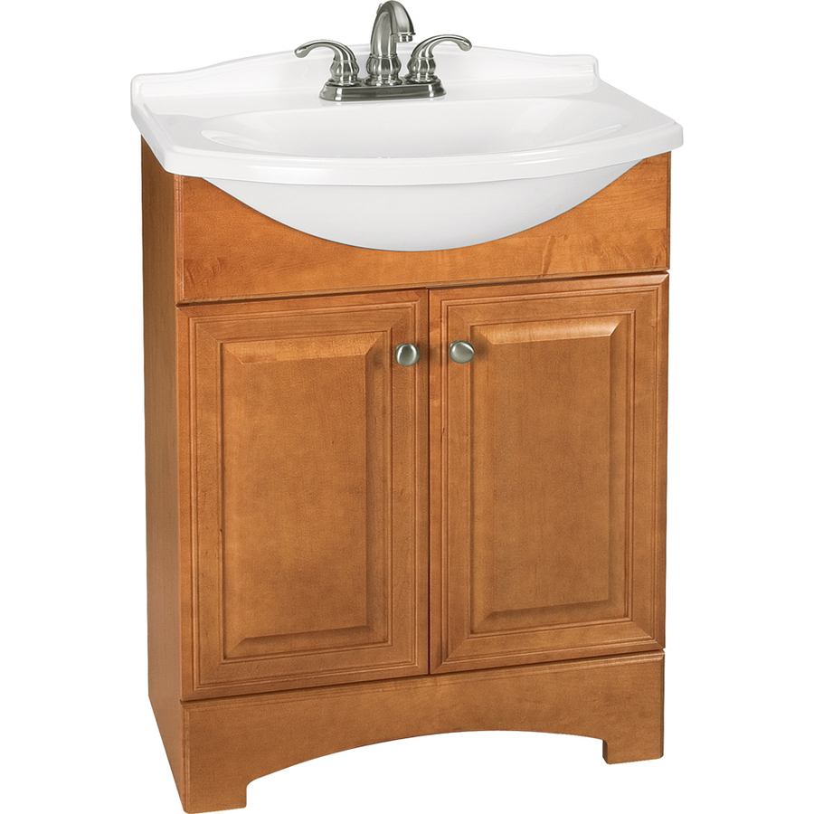 Style Selections Euro Style Honey Integral Single Sink Bathroom Vanity