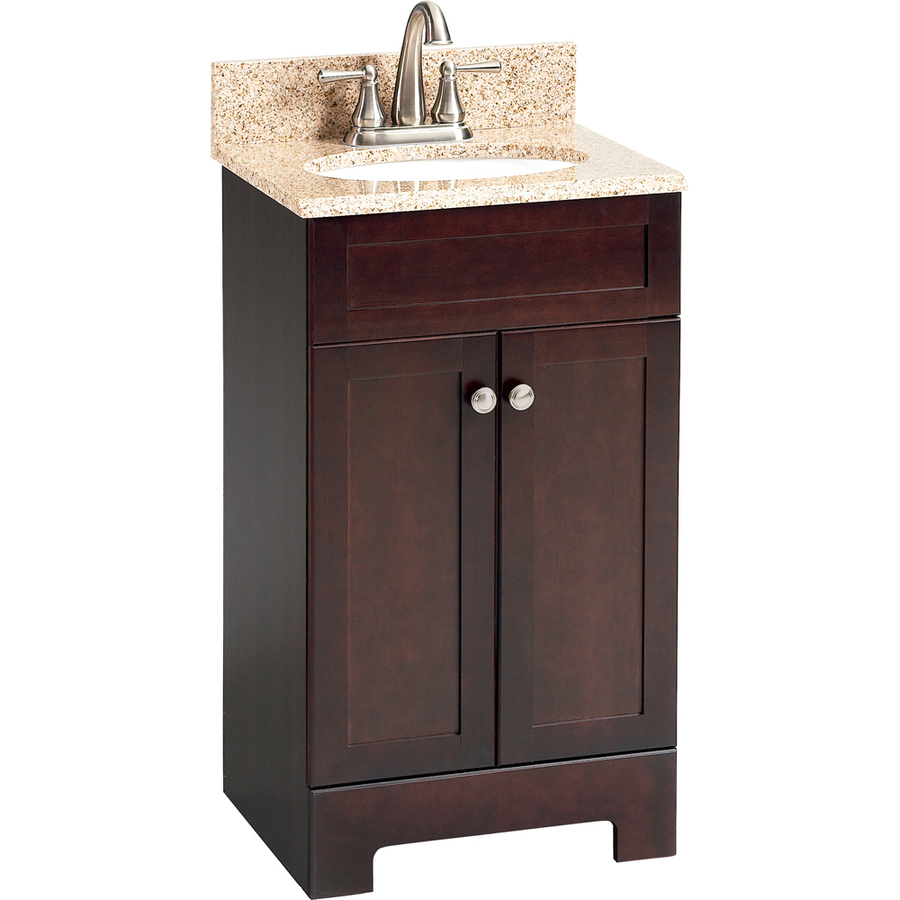 18 Inch Vanity With Sink : Selections Longshire Espresso Undermount Single Sink Bathroom Vanity ...