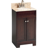 Style Selections Longshire 18-1/2-in x 16-1/2-in Espresso Bathroom Vanity with Granite Top