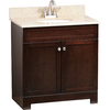 Style Selections 31-in Espresso Longshire Single Sink Bathroom Vanity with Top