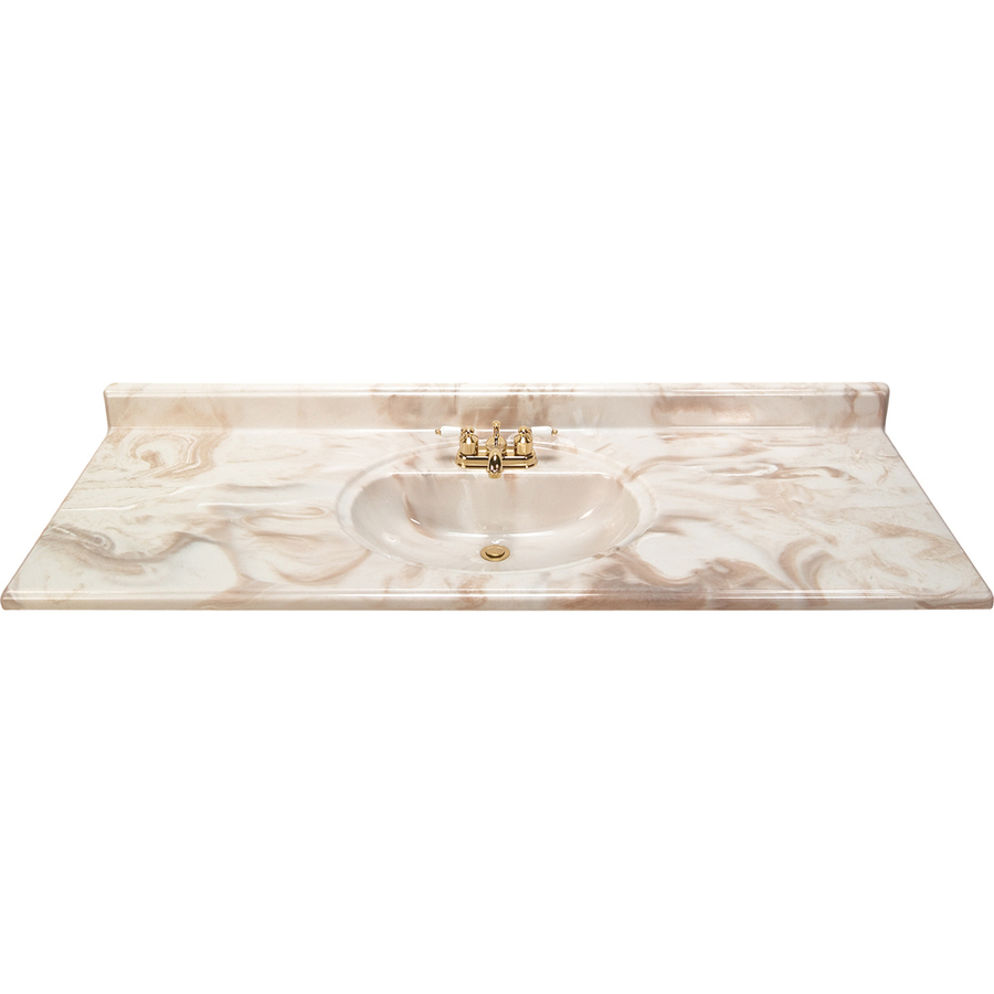 Shop style selections caramel caramel cultured marble integral single sink bathroom vanity top - Cultured marble bathroom vanity tops ...