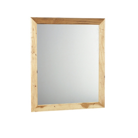 Style Selections Cotton Creek 30-in W x 35.5-in H Natural Rectangular Bathroom Mirror