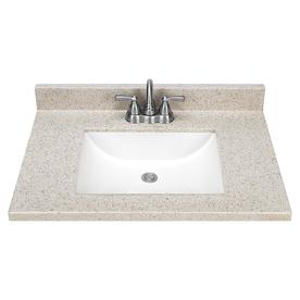 Solid Surface Integral Single Sink Bathroom Vanity Top (Common: 31-in x 22-in; Actual: 31-in x 22-in)
