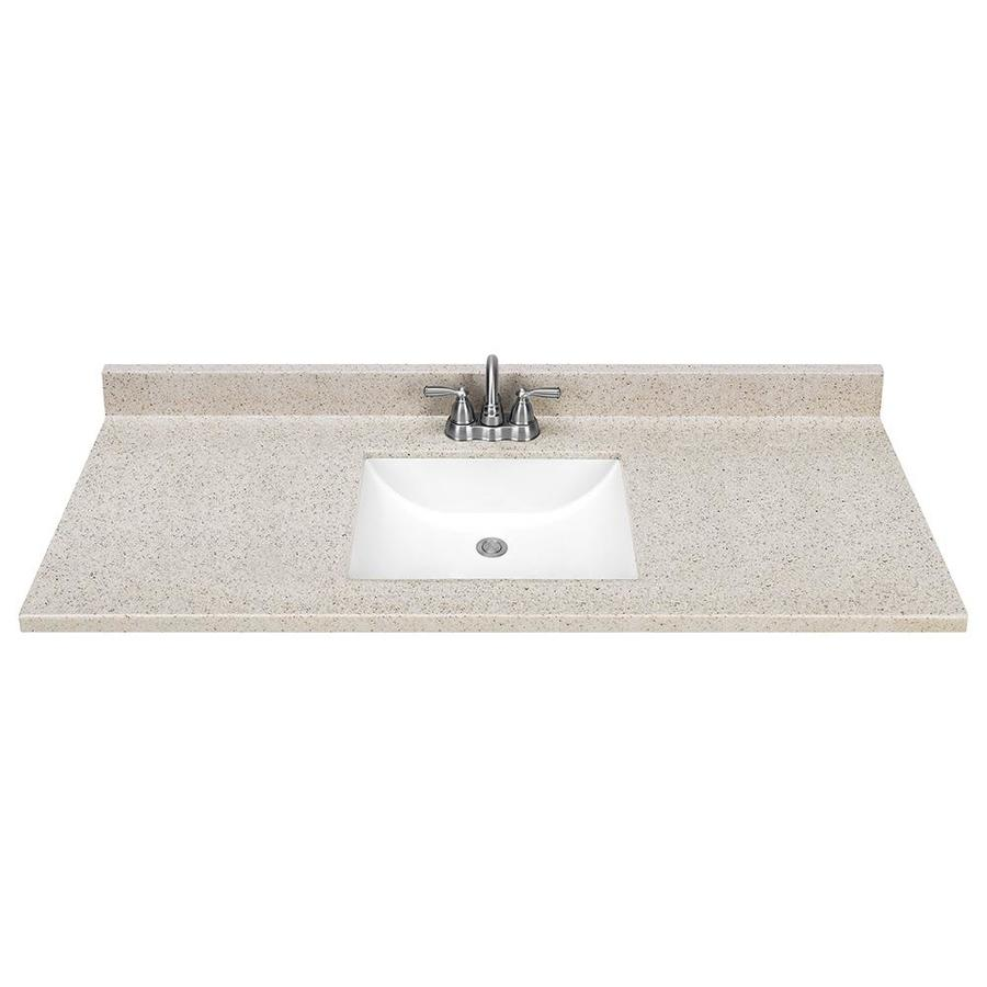 Selections Dune Solid Surface Integral Single Sink Bathroom Vanity Top ...